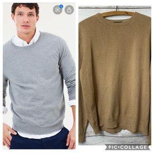 J.Crew Tan Crewneck Sweater Medium